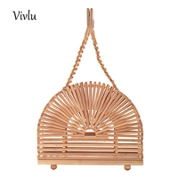Handmade Women Bamboo Bags Beading Ladies Hand Bag high quality Wood Causal Totes Women's handbags BG 075 Dropshipping