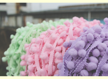 Free shipping ice cream color pompom laciness in 0.8cm ball diameter  18m/lot(6ymeters/color) pompom trimming