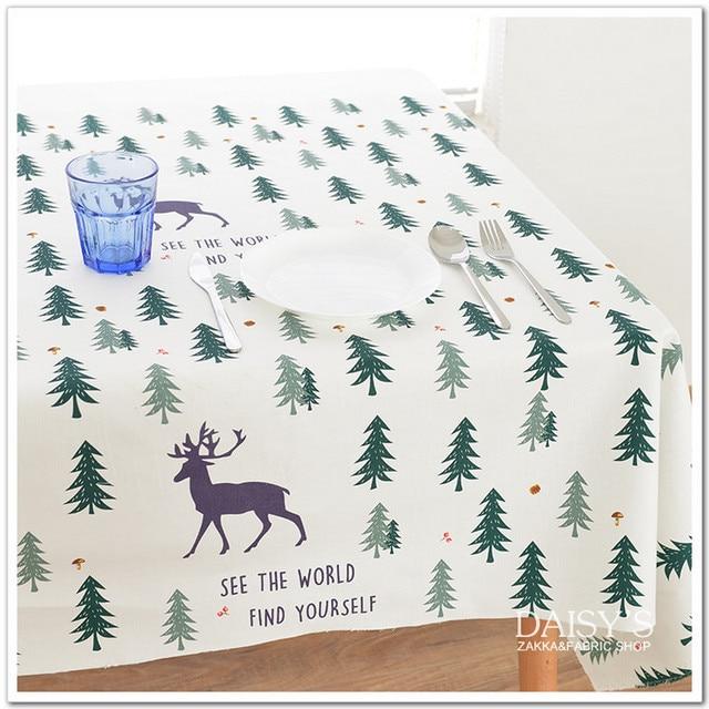 One Positioning Sofa Cloth Fabric Cotton Linen Tablecloth Curtain Cloth Diy Handmade Decorative Cloth Elk Forest