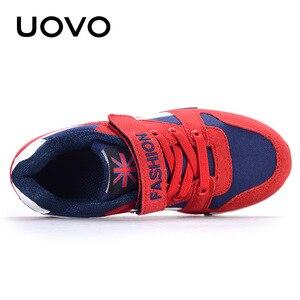 Image 3 - Uovo 봄 가을 소년 운동화 어린이 신발 캔버스 인공 스웨이드 키즈 운동화 패션 키즈 스포츠 신발 크기 29 37 #