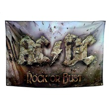Xiangying polyester hanging  ACDC Heavy Metal Rock Band Decoration Flag