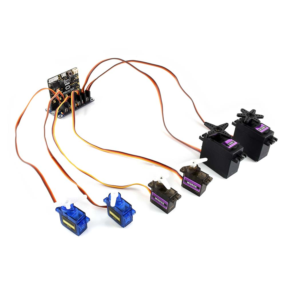 Servo Driver For Micro:bit, 16-Channel,12-bit,I2C Interface,Up To 16-Channel Servo/PWM Output 12-bit Resolution For Each Channel