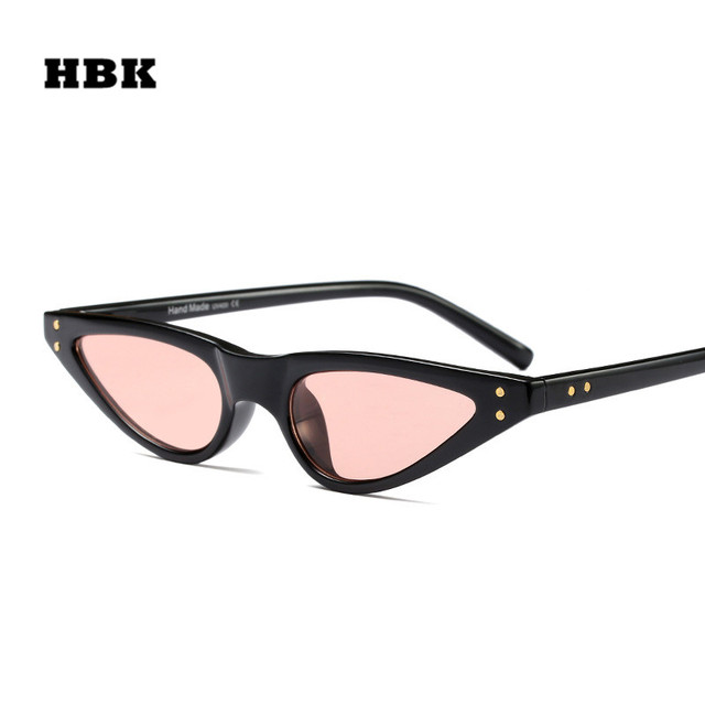 eb368d4544 HBK 2018 New Women Retro Cute Sexy Cat Eye Sunglasses Red Black Brand Design  Sun Glasses for female Lady New Year Christmas Gift