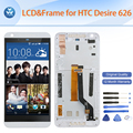 "Best quality original LCD for HTC desire 626 626G LCD display touch screen digitizer+frame black white blue 5"" pantalla+tools"