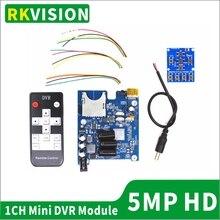 2ch Мини DVR CCTV медицинский эндоскоп детектор трубопровода видео модуль CVBS/AHD1080P видео плата SD карта Запись в реальном времени HDMI