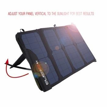Cargador de teléfono Solar ELEGEEK 22W 5V Dual USB cargador de batería de panel Solar impermeable plegable con bolsa de almacenamiento para exteriores