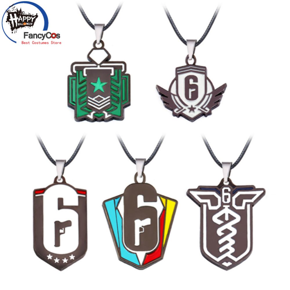 game Tom Clancy Five paragraphs game Rainbow Six  Key chain Metal Key Chains Fancy Jewelry Costume Cosplay Halloween Movie