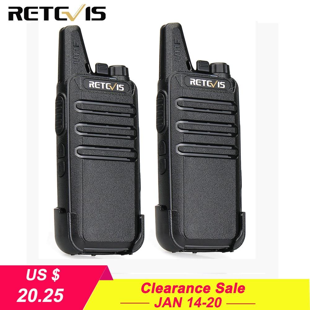 2 stücke Mini Walkie Talkie Retevis RT22 2 W UHF VOX USB Ladegerät Zwei Weg Radio Station Ham Radio Ultra -dünne Walkie-talkie Handliche