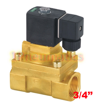 все цены на Free Shipping 5PCS/LOT 3/4'' PTFE Guide Solenoid Valve Brass High Pressure Model 5404-06