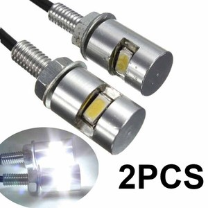 Image 1 - 2pcs 12V LED Auto Motorcycle Car License Plate Screw Bolt Light Tail Number Plate Lamp White Super Bright Bulbs