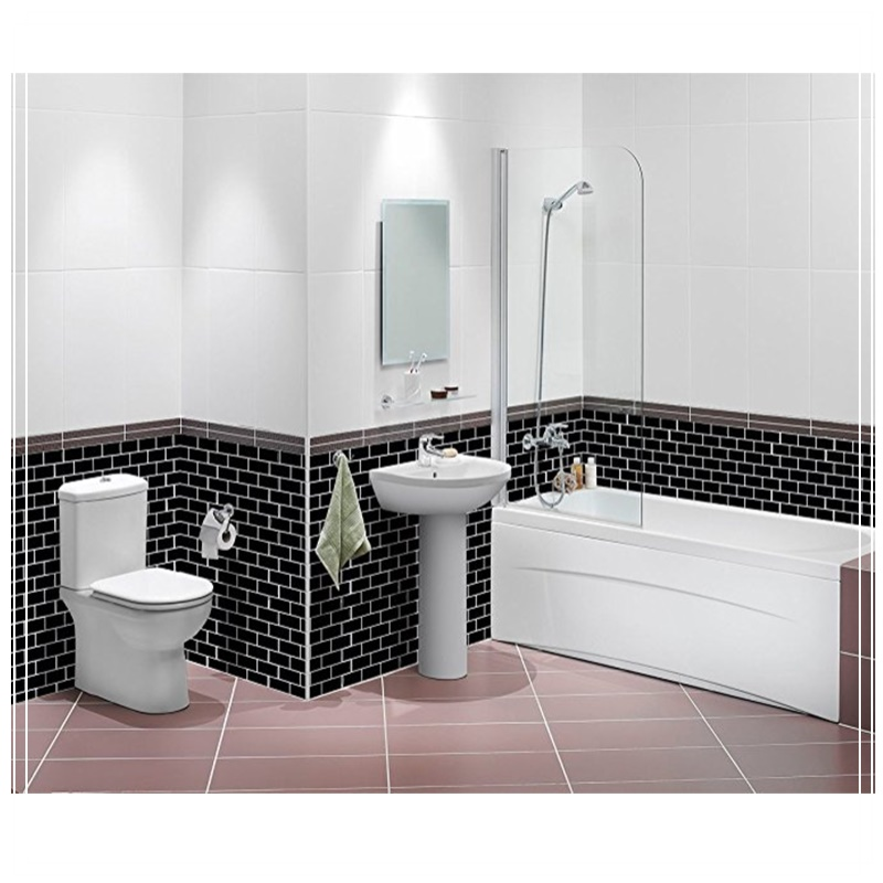 Black Subway Tile Self Adhesive L