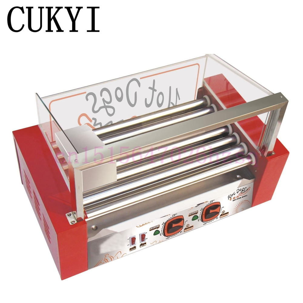 CUKYI 220V Commercial French Muffin Machine Hot Dog Corn Shape Lolly Wafer Waffle Makers Kitchen Machines