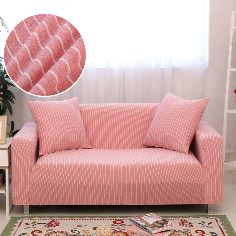 Universal size Striped shape Sofa cover couch Slipcovers Fashion seat covers Stretch fabric bench removable washable Towel wrap