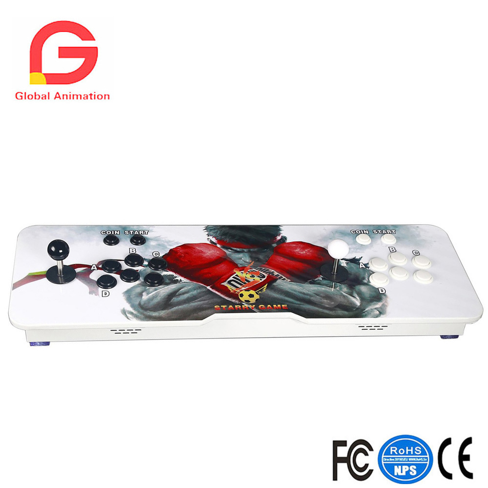 Classic Video Game Console 999 Classic Games 2 Players Game Box 5S Plus Arcade Game Console Ultra Slim Metal Double Stick