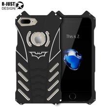 R-просто Бэтмен для Apple iPhone 7 8 плюс Алюминий металлическая крышка preminum прочный Панцири противоударный Heavy Duty Телефонные чехлы Для 7 Plus