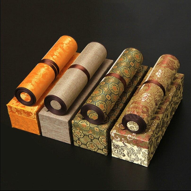 35 см * 5 м ручной работы китайской живописи Бумага прокрутки Рисовая бумага крепления ручной прокрутки для картина Оптовая