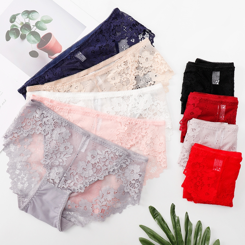 Women's Sexy Underpants Lace   Panties   Perspective Briefs Female Underwear Intimates Ladies Lingerie Underwear Women   Panties   E0056