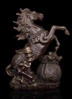 Ему повезло Китайский Бронзовая скульптура украшения открытие подарок на день рождения денег лошадь hd096