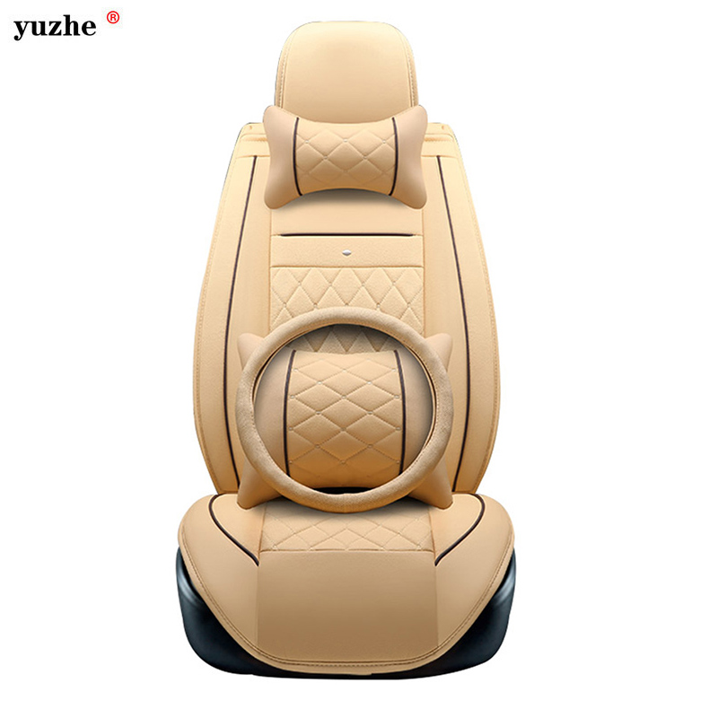 Yuzhe leather car seat cover For Toyota Honda Nissan Mazda Lexus Jeep Subaru Mitsubishi Suzuki Kia Hyundai Ssangyong accessories new car tire valve caps case for toyota bmw seat fiat skoda renault opel mazda hyundai mitsubishi lexus suzuki car styling