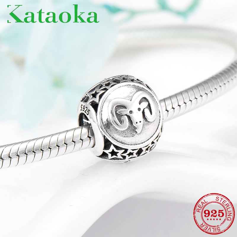 Jewelry & Accessories Beads & Jewelry Making Romantic Aries Star Sign Charm Beads Diy Fits Pandora Original Charms Bracelet 925 Sterling Silver Jewelry For Women Men Gift Fl415