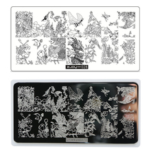 ZJOY 028 1 Pc Animal Pattern For Stencils Nail Stamp Plate Stamping Image Konad For Nails Stamp QREHTUER454654 konad печатная форма диск image plate m41