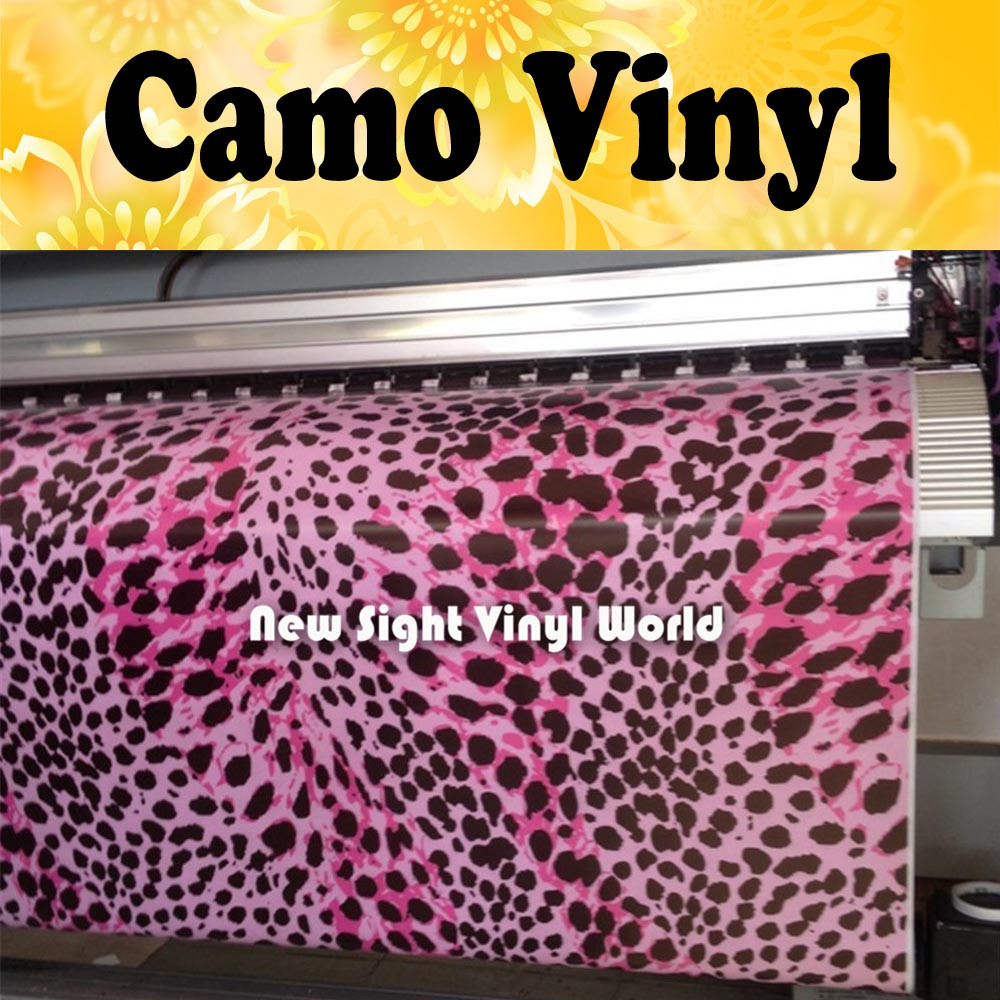 Pink Leopard Camo Car Film Vinyl Leopard Camouflage Sticker Bomb Roll Car Wrapping Size:1.50*30m/Roll leopard camo car wrap sticker bomb vinyl leopard camouflage vinyl sticker size 1 50 30m roll