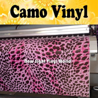Pink Leopard Camo Car Film Vinyl Leopard Camouflage Sticker Bomb Roll Car Wrapping Size:1.50*30m/Roll