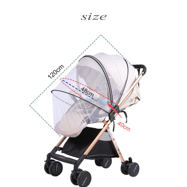 Baby Stroller Mosquito Insect Net Accessories Safe Mesh Buggy Crib Netting Cart Mosquito Net Pushchair Full Cover 4
