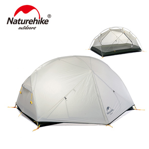 Image 2 - NatureHike Mongar Camping Tent 2 Persons Ultralight 20D Nylon Aluminum Alloy Pole Double Layer Outdoor Hiking Tent NH17T007 M