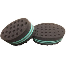 2Pcs Bundled Large And Small Magic Twist Hair Curl Sponge Brush Coil Wave For Natural