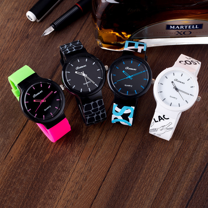 2017 New fashion soft rubber silicone jelly with snake print crocodile quartz wrist watch for women men Students original miler brand soft silicone strap jelly quartz watch wristwatches for women man lovers family black for led kids student