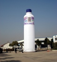 Customized 8m H attractive Giant Inflatable Advertising Balloon/ Inflatable advertising Standing Bottle for Sale