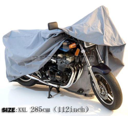 XXL Big Size 285*105*125cm Motorcycle Motorbike Waterproof Cover Outdoor Indoor UV Protect 112inch