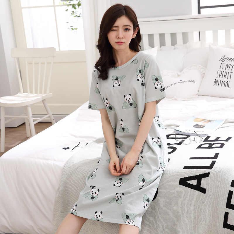 61b9b2e5b601f2a ... LARCI Для женщин s Ночные сорочки Новый хлопчатобумажная одежда для сна  летнее платье повседневные свободные рубашки
