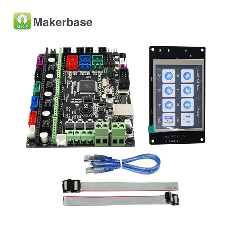 Control Board MKS Gen-L V1.0 With MKS TFT32 V4.0 Compatible Ramps1.4/Mega2560 R3 Support A4988/DRV8825/TMC2100/LV8729 4 layers pcb controller board mks gen v1 4 integrated mainboard compatible ramps1 4 mega2560 r3 support a4988 drv8825 tmc2100
