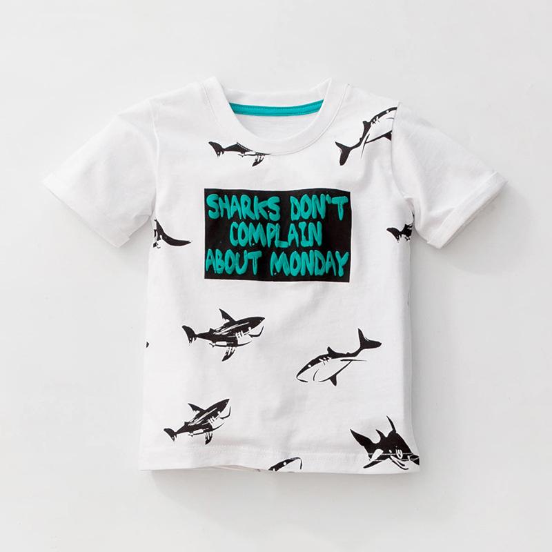 HTB19fsGXrSYBuNjSspiq6xNzpXaE - Little maven 1-6Years Cartoon Shark Baby Kids Boys Short Sleeve T Shirt Cotton Summer Children Boys Girl's Garments Clothes