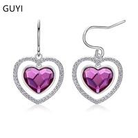 New 925 Silver Heart Earrings Female Ear Nails Europe and America