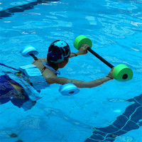 2PCS Water Floating Dumbbell Swimming Aerobics Aquatic Barbell Sport Yoga Water Fitness Exercise Dumbbells Thickened Handle