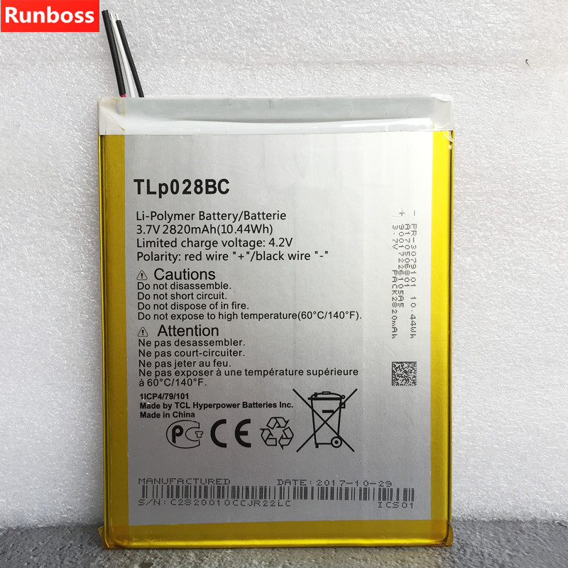US $13 99 |2820mAh TLP028BC TLp028BD Battery For Alcatel tab pixe 3 Cell  Phone Battery-in Mobile Phone Batteries from Cellphones &  Telecommunications