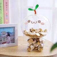 Angehende Transparentem glas sparschwein münze geld safe cartoon piggy spardose spardose für kinder 3 stil BP-CQG-BL