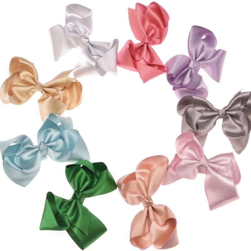 50PCS Glitter Bows Fashion Bowknot Cheap Hair Accessories Bow Headwear Fashion Barrette Accessory Hair bow Hair