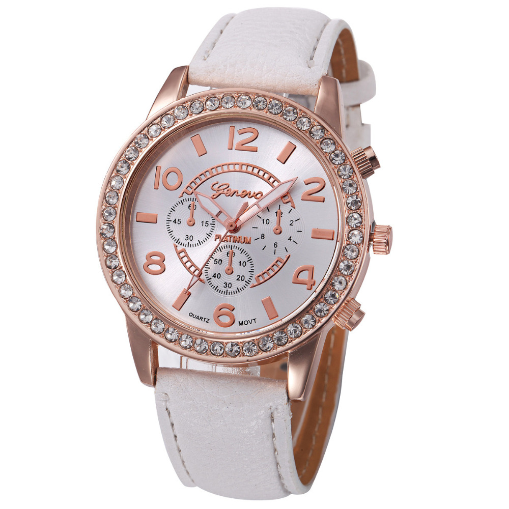 Reloj Mujer 2019 Geneva Fashion Women Diamond Analog Leather Quartz Wrist Watch Watches Womens Watches Top Brand Luxury Giti Fi
