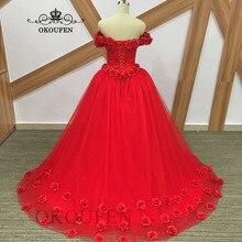 e03b0222f4 Fotos 100% reales Rosa Flores Vestidos De quinceañera 2019 hombro largo  Vestidos De 15 años