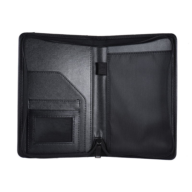 Portable A5 Padfolio Business Portfolio Padfolio Writing Pad Holder Folder Document Case Organizer A5 PU Leather For Business
