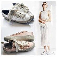 ใหม่รองเท้าผู้หญิงฤดูใบไม้ร่วง2016ยุโรปรอบนิ้วเท้าสตรีแบนe spadrillesลูกไม้ขึ้นรองเท้าผู้หญิงสบายๆขนาดบวกรองเท้าผู้หญิงสีขาว