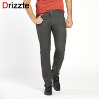 Mens Fashion Stretch Slim Fit Sanded Chino Pants Trousers Black Blue Khaki Brown 4 Colors 28