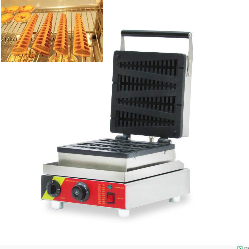 220v 110v 4 PCS Lolly Waffle Maker Waffle Stick  lolly waffle making machine/electrical pine waffle maker factory price automatic breakfast waffle maker commercial 4 pcs lolly waffle making machine for sale