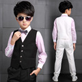 2016 Autumn children's clothing boys suit long-sleeved shirt pants suit vest three-piece spring and autumn and winter dress