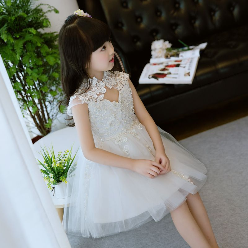 2017 New Summer Christmas cute Girls Dress sequined mesh Girl Clothing Sleeveless Princess Party Dresses Girl Costume Dress summer new hot cute flower girls lace dress sequined mesh girl clothing sleeveless princess dresses girl costume kids vestidos