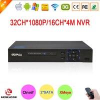 Hi3535 Deux Sata Port Numérique 32CH 32 Canal 1080 P 2MP Full HD IP Caméra de Surveillance Enregistreur Vidéo ONVIF NVR Livraison gratuite
